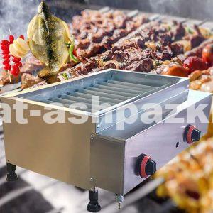 کباب پز گازی استیل