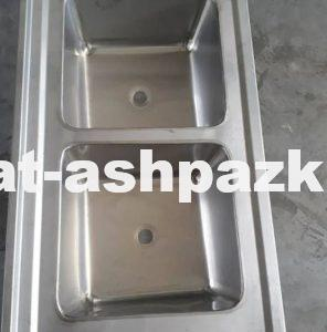 سینک 2 لگنه آشپزخانه صنعتی